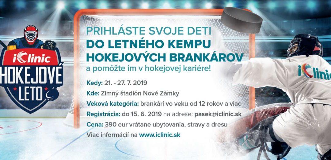Iclinic hokejové leto pre mladých slovenských brankárov